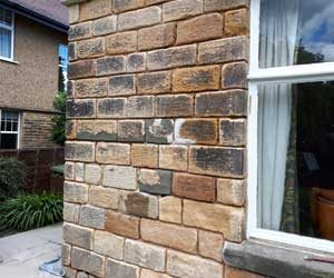 Rear stone walls prior to repointing Harrogate