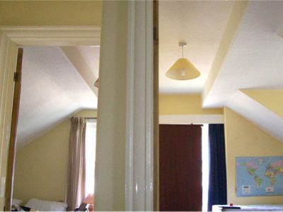attic bedroom walls and ceilings are insulated skimmed and decorated harrogate renovation