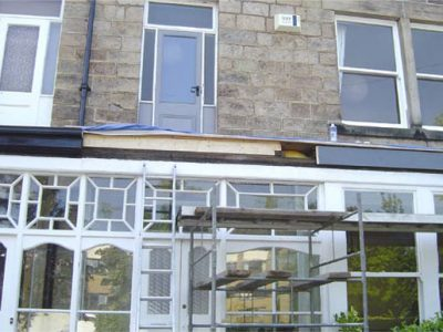 extensive joinery repairs to veranda roof harrogate