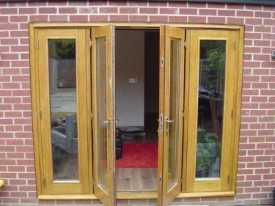 folding oak doors new extension leeds
