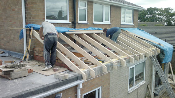 harrogate roofing work extension