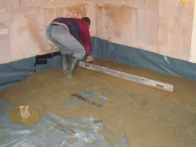 laying new concrete floor leeds property renovation