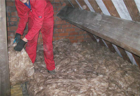 loft cleaned out and new insulation laid to required standards