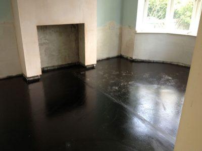 New mastic asphalt floor