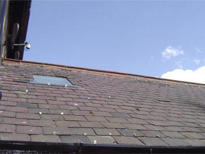 old slate roof with glass skylight harrogate house