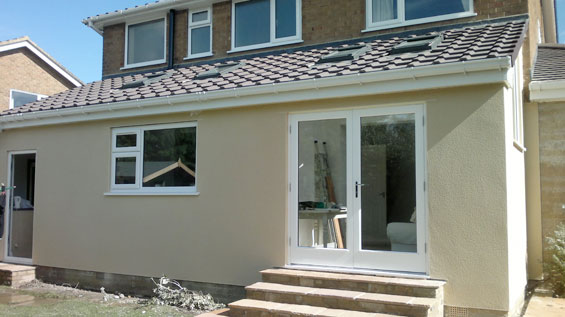 rear built extension harrogate house