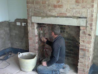repairs to chimney and tanking york house interior