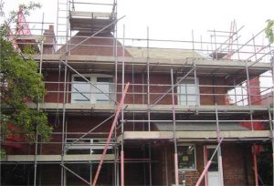 scaffolding provided for roofing and re pointing work wakefield deatched house