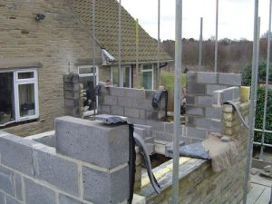 side extension in stone forming new kitchen leeds