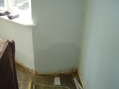signs of damp staining on outside walls york house