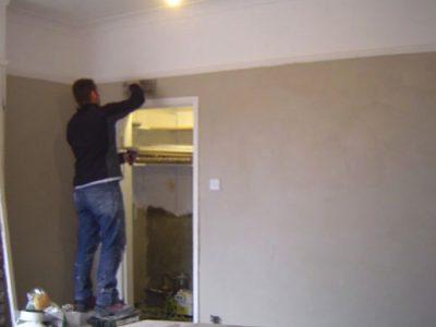 terraced house harrogate final plastering