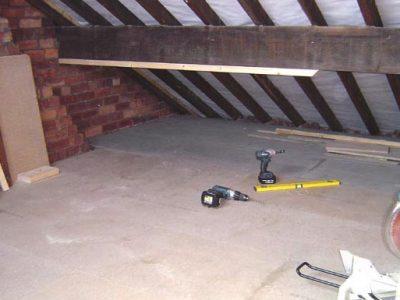 terraced house harrogate loft boarding