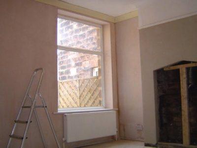 terraced house harrogate plastered walls