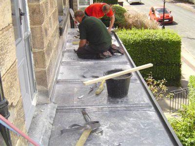 traditional craftmanship new lead roof over bay window harrogate house