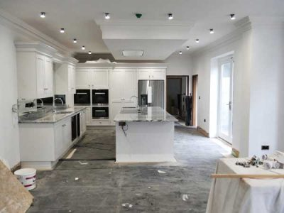 Fitted kitchen building project near Leeds