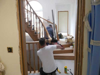 Fitting oak staircase building project near Leeds