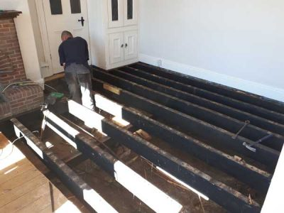 Replacement floor remedial work