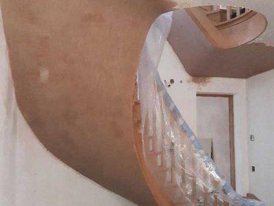 Plastering underside of staircase